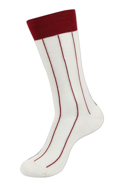 Balenzia Men's Casual Mercerized Cotton Socks-Oyster